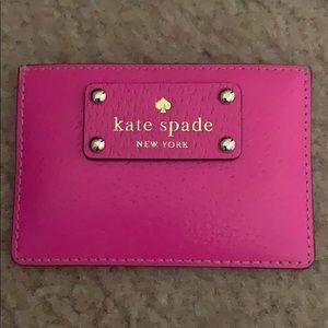 Kate Spade hot pink card holder